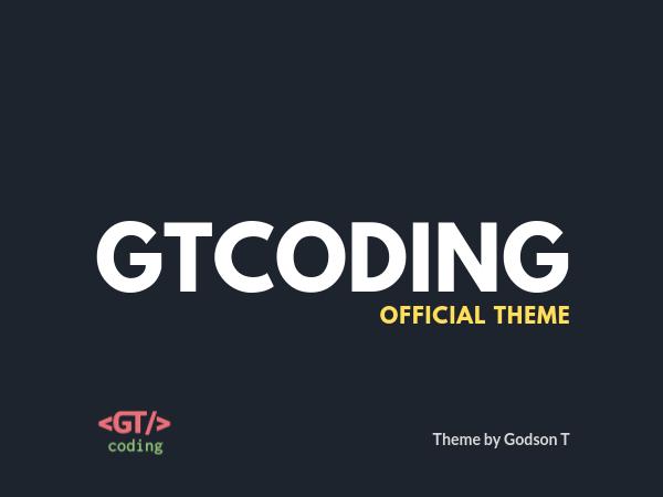 GTCoding Custom Theme Source Code