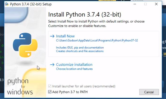 installing python